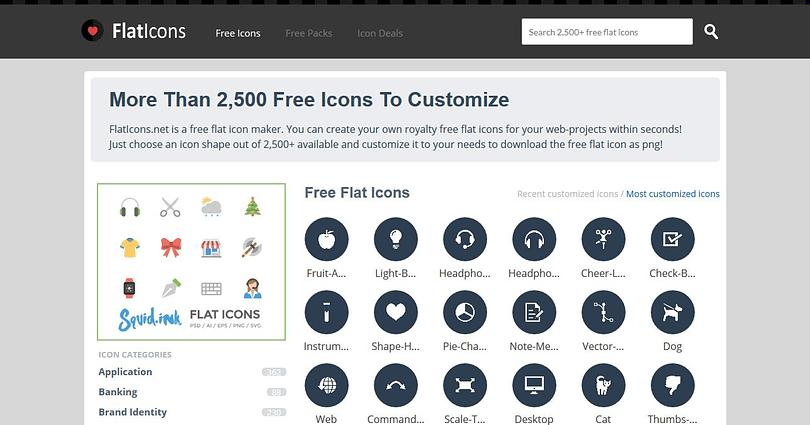 flat icons web design resources