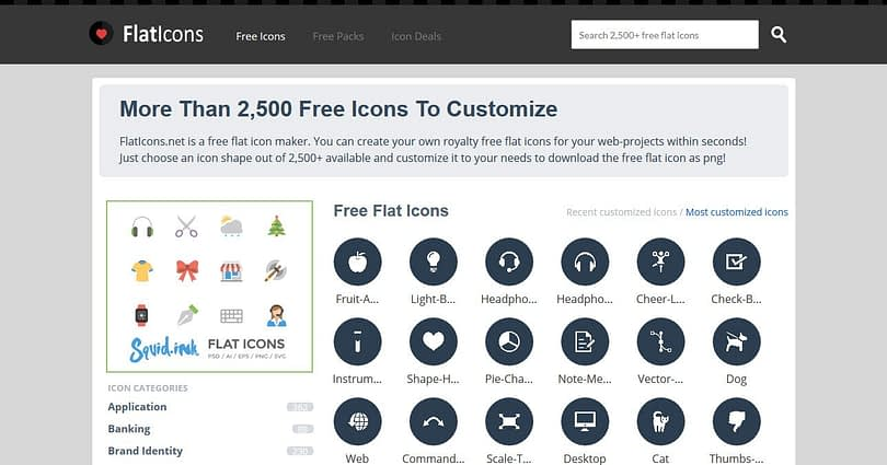 flat icons web design resources