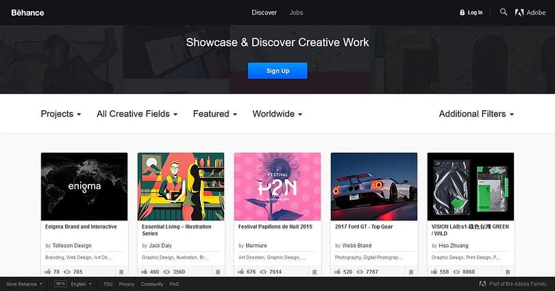 free web design resources behance