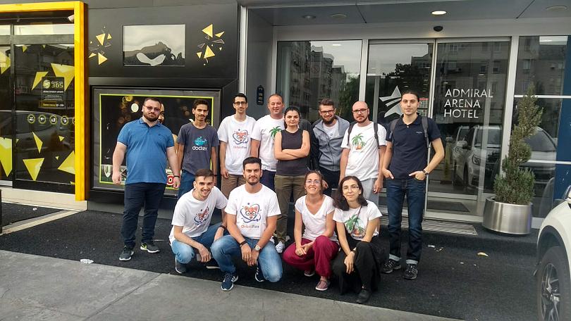 The ThemeIsle team before WordCamp Europe 2018