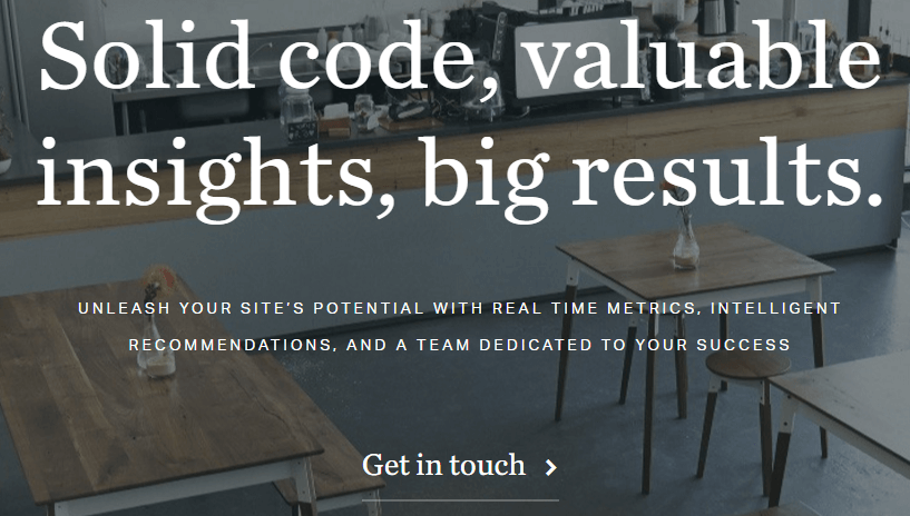A screenshot of Valet.io's homepage.
