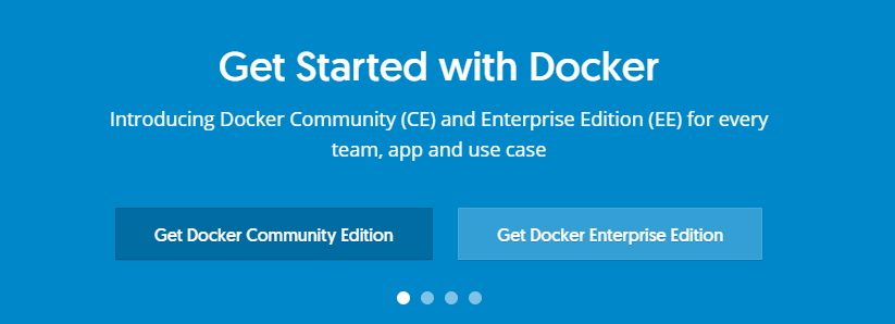 The Docker homepage.