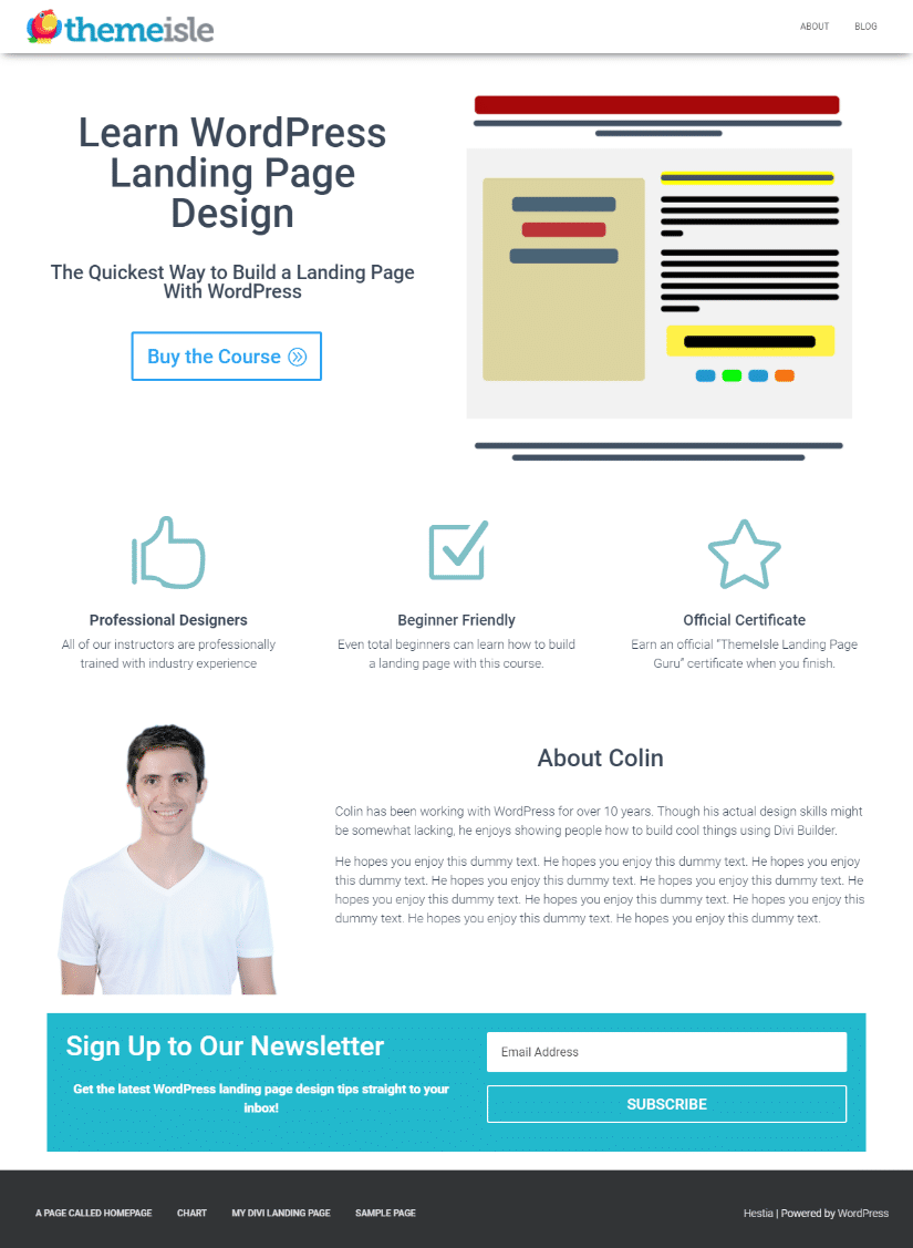 how to build a product launch page with Divi Builder