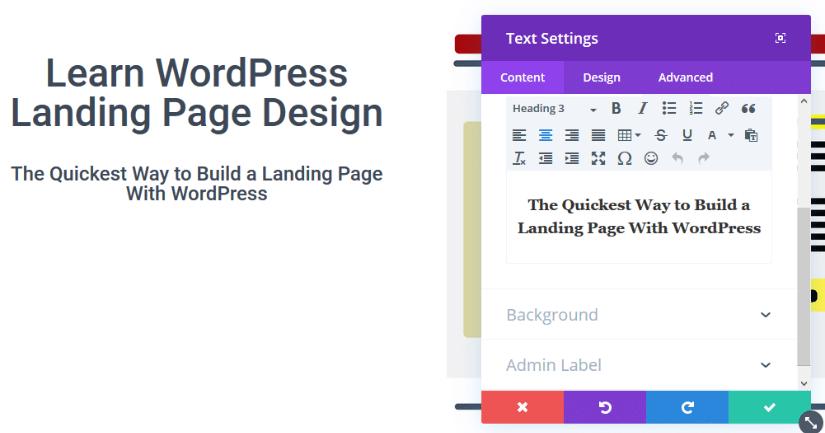 editing divi text module