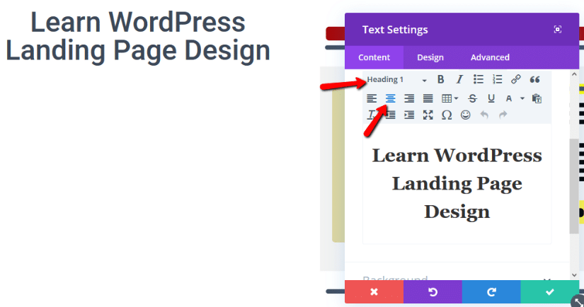 styling divi text module