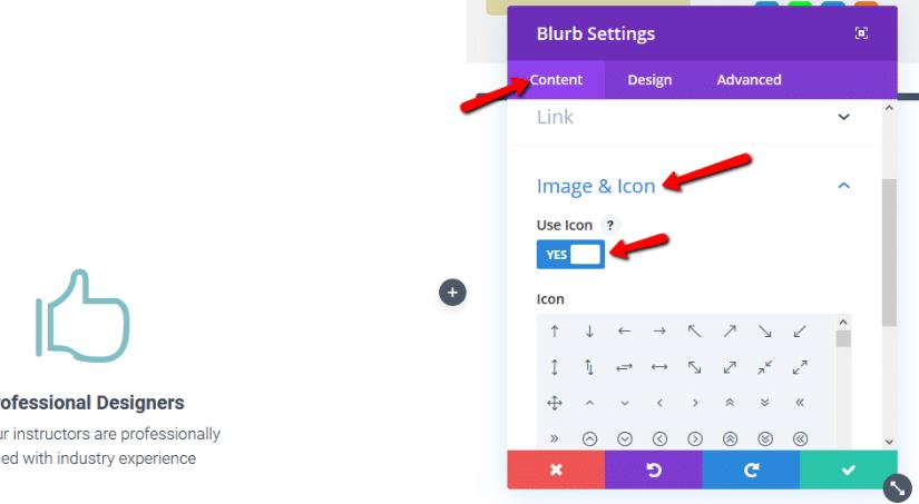 adding icon to divi blurb module