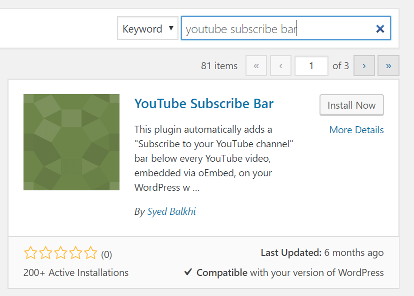 YouTube Subscribe Bar