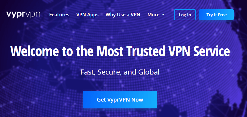 The VyprVPN homepage.