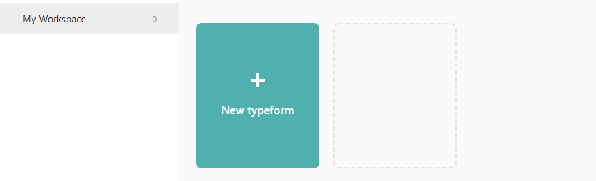 Creating a new Typeform form.