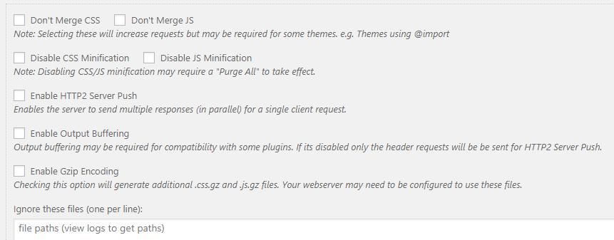 Merge plus Minify plus Refresh's settings.
