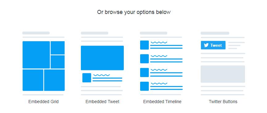 The Twitter Publish website.