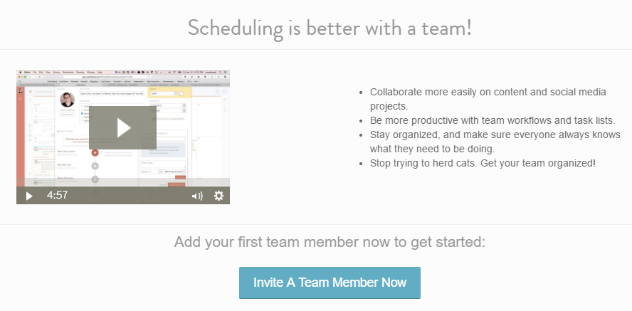 Inviting a new member to your team.