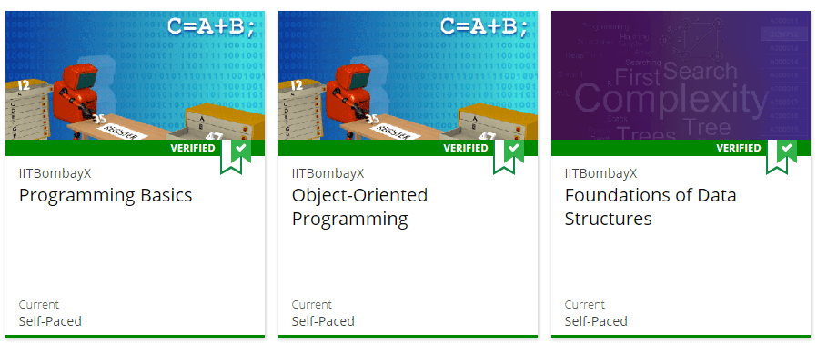 Some examples of computer programming online lessons.