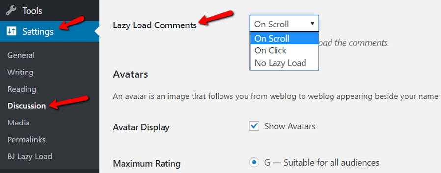lazy load wordpress comments