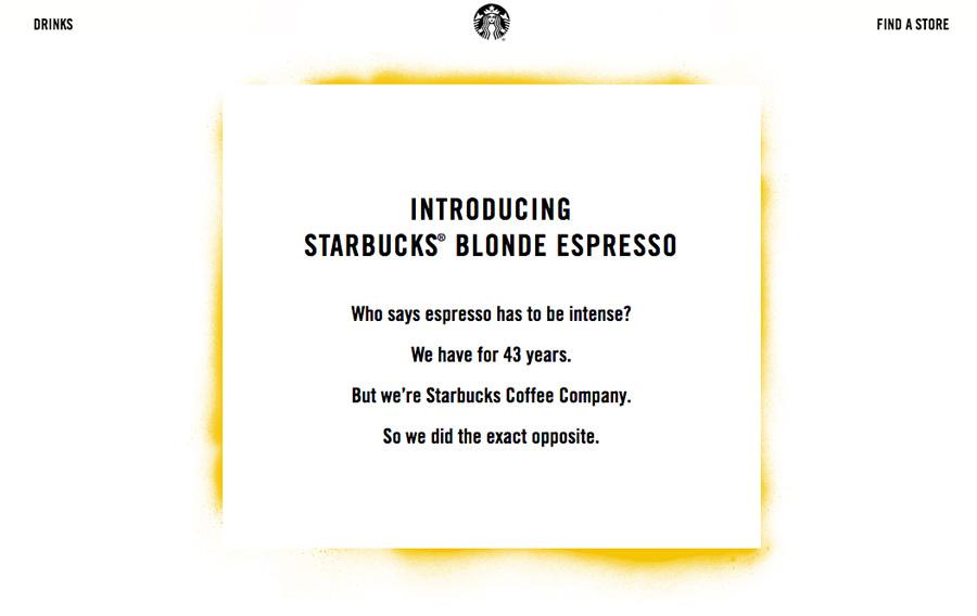 Starbucks blonde social media for business