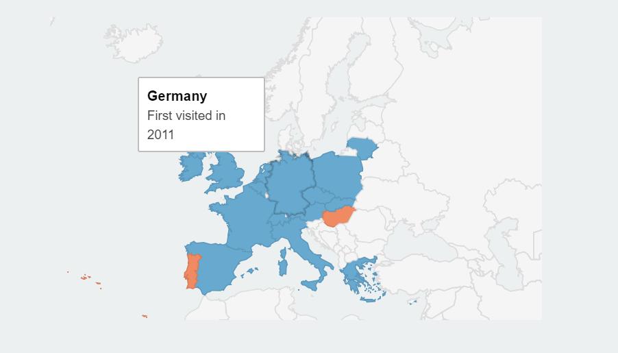 interaktywne mapy podróży