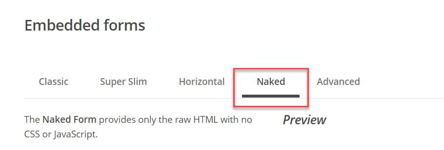 Naked Form