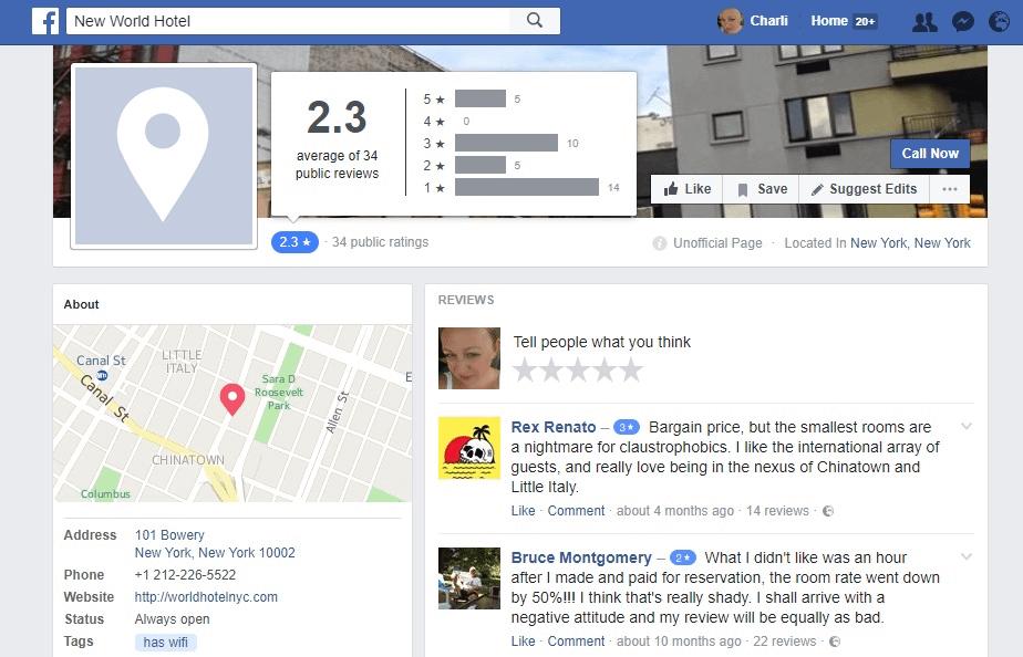 Facebook reviews 2