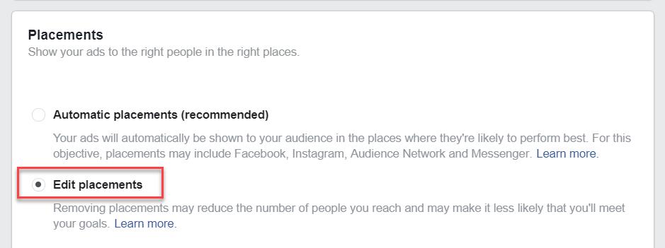 Edit Placements