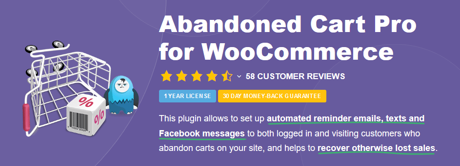 The Abandoned Cart Pro for WooCommerce plugin.