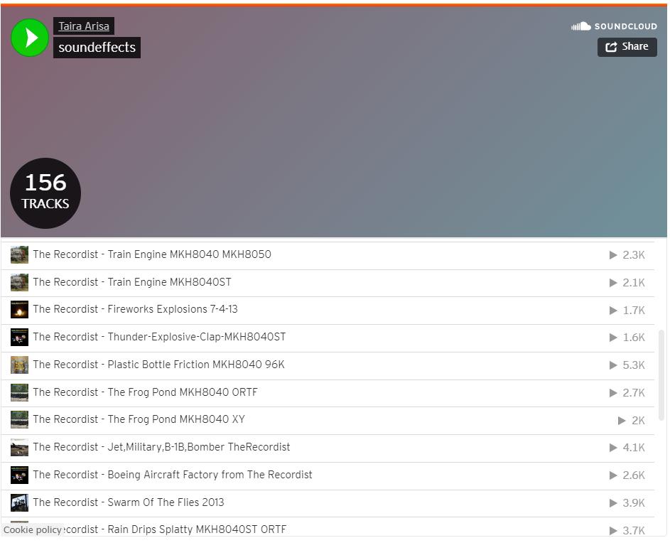 SoundCloud audio playist in WordPress post