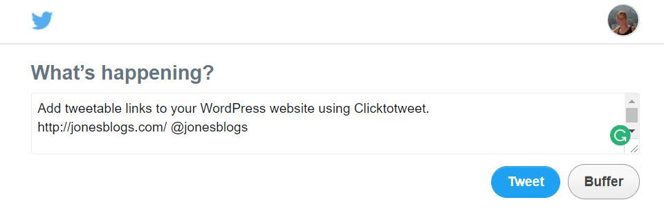 Check tweetable link