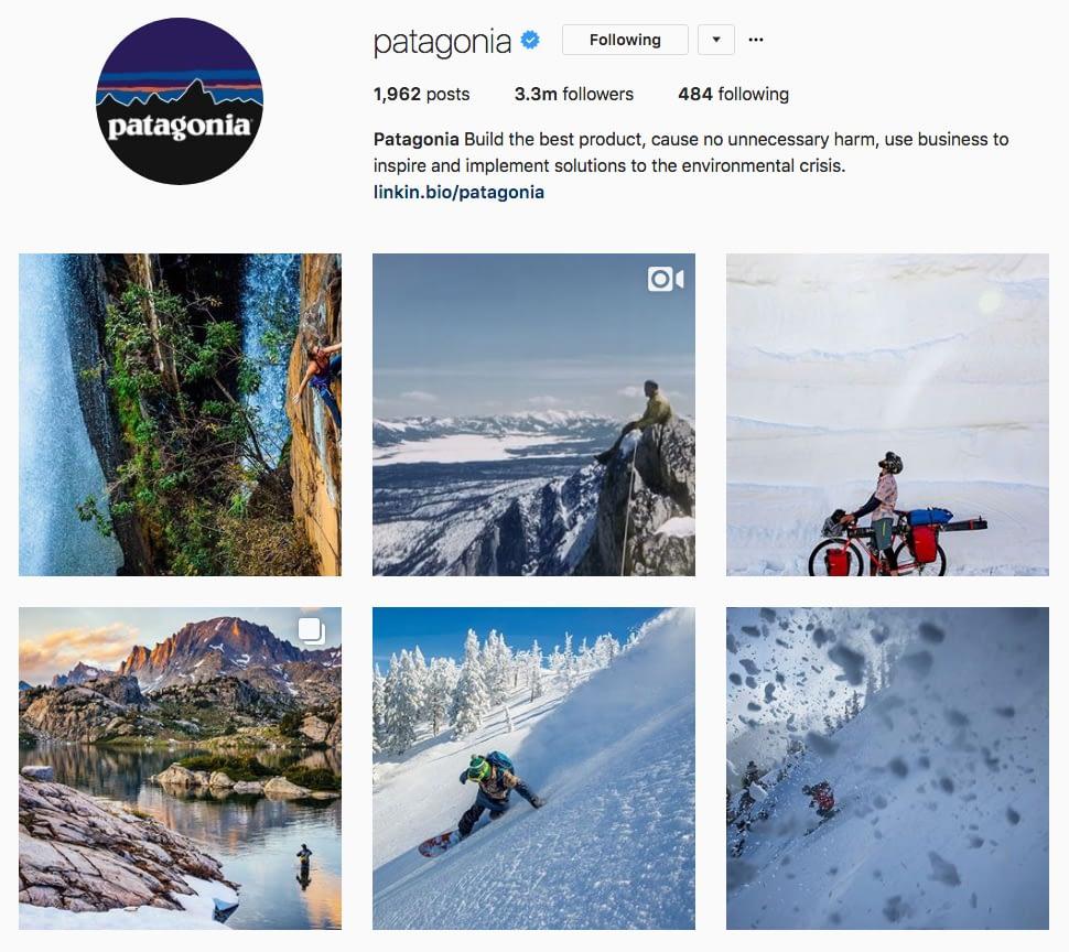 Instagram Marketing Strategy - Patagonia Instagram