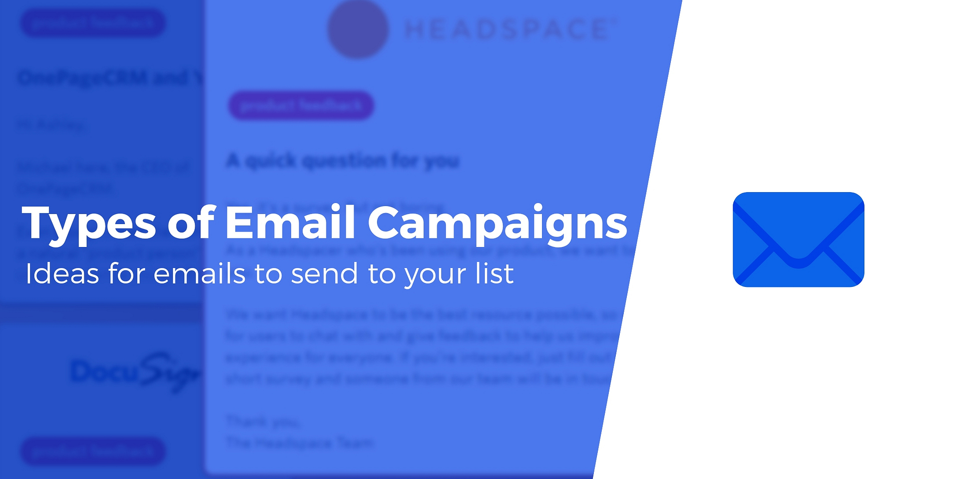 10 Types Of Email Marketing Campaigns You Should Be Sending