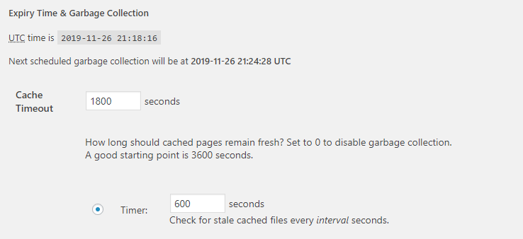 Setting a timeout value for your cached files.
