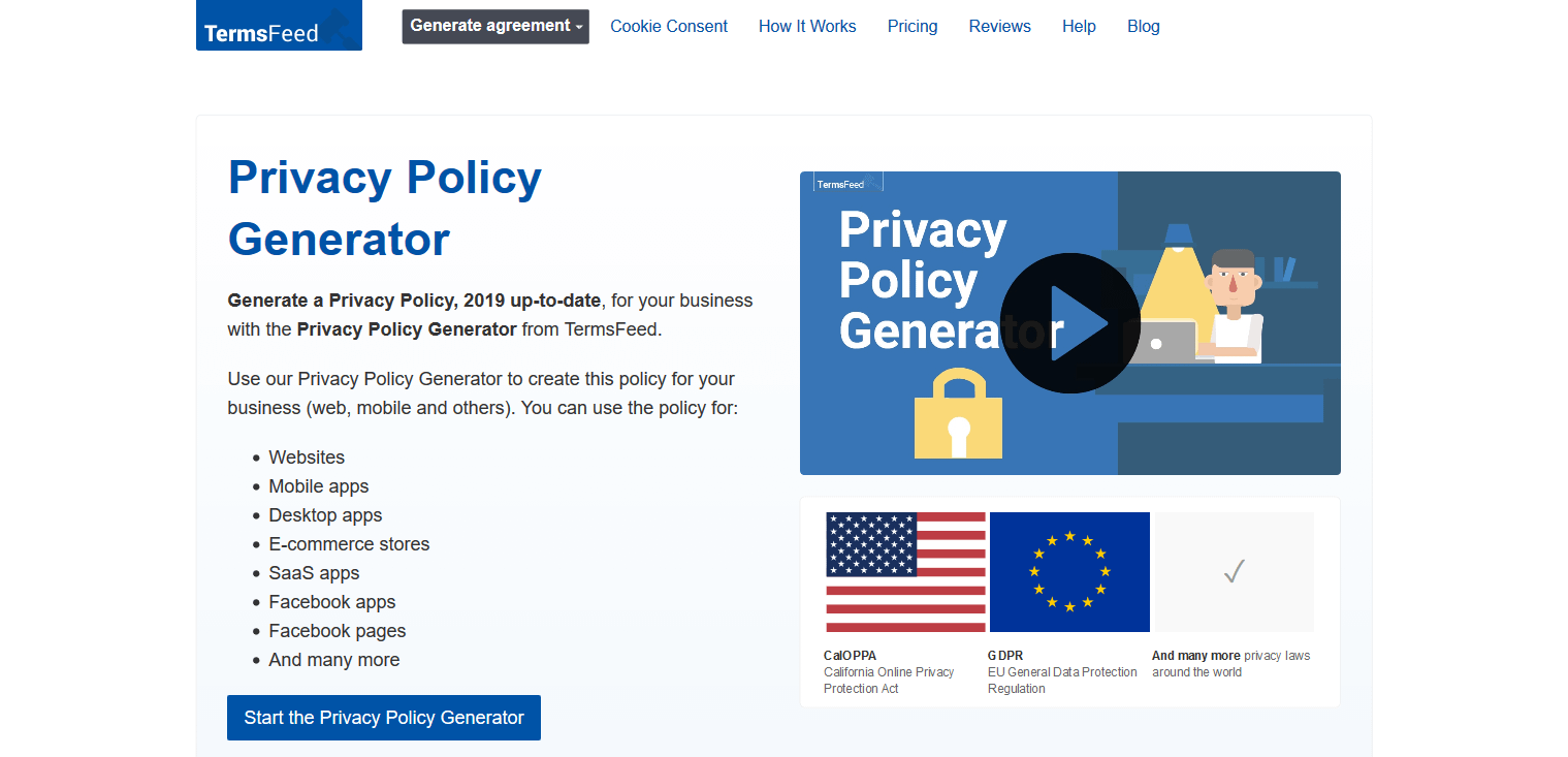 Online Privacy Policy >> 5 Best Privacy Policy Generator Tools For Your Website In 2020