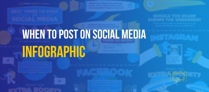 Infographic: When to Post on Social Media (Twitter, Facebook, Instagram, LinkedIn, Pinterest)