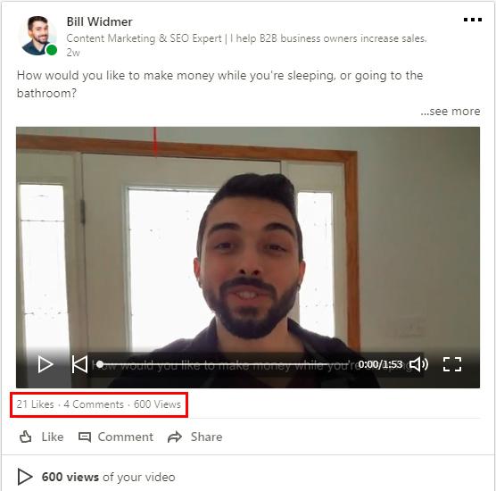 LinkedIn video marketing
