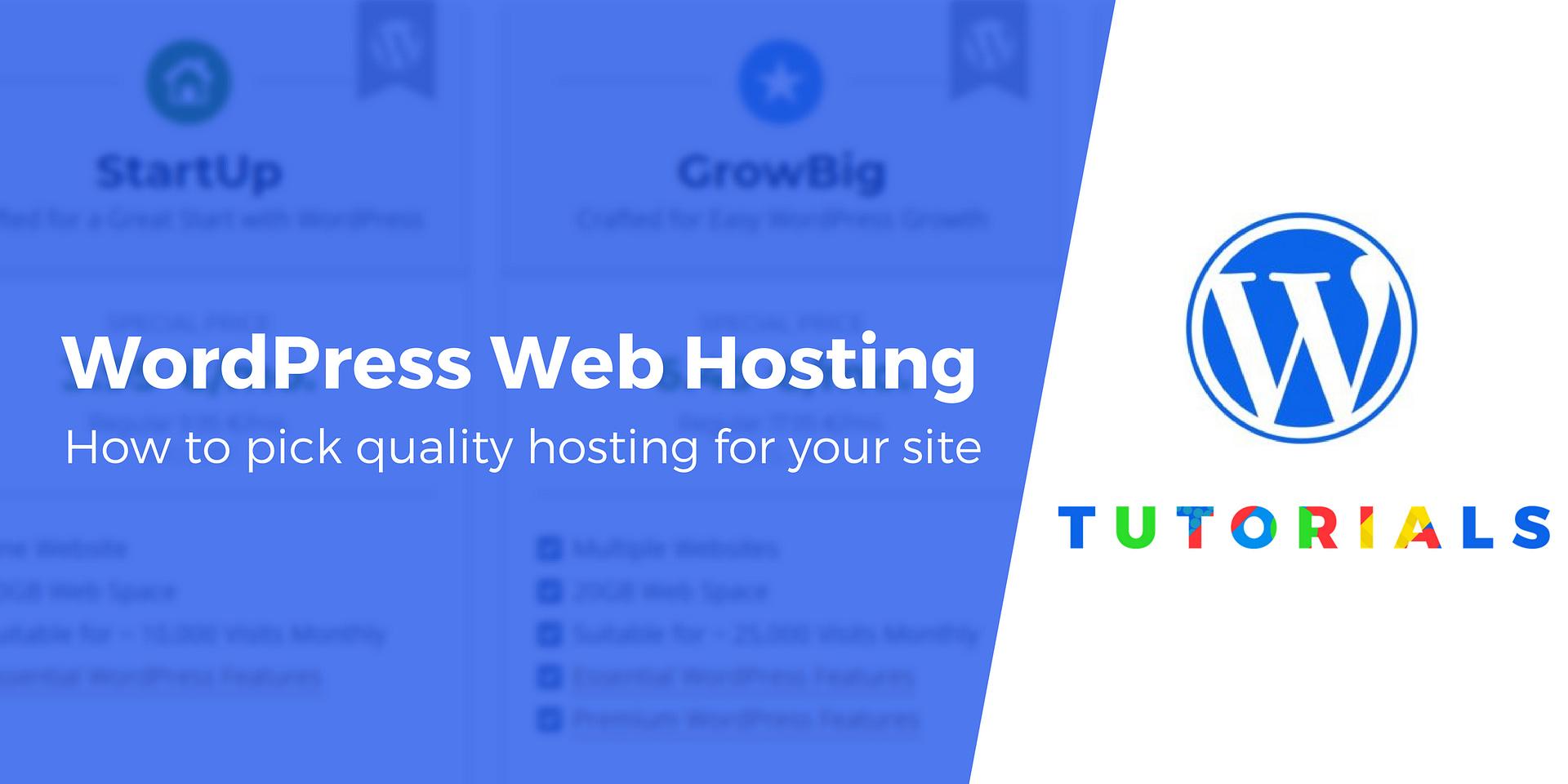 WordPress Web Hosting Company - How to Choose One