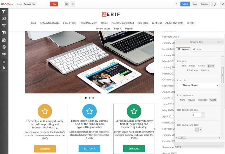 MotoPress Page Builder + Zerif Lite / PRO Integration: How
