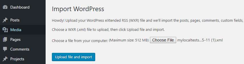 How to Import WordPress Content - Import Another Blog's
