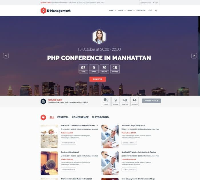20+ Best Event / Conference Themes for WordPress in 2017