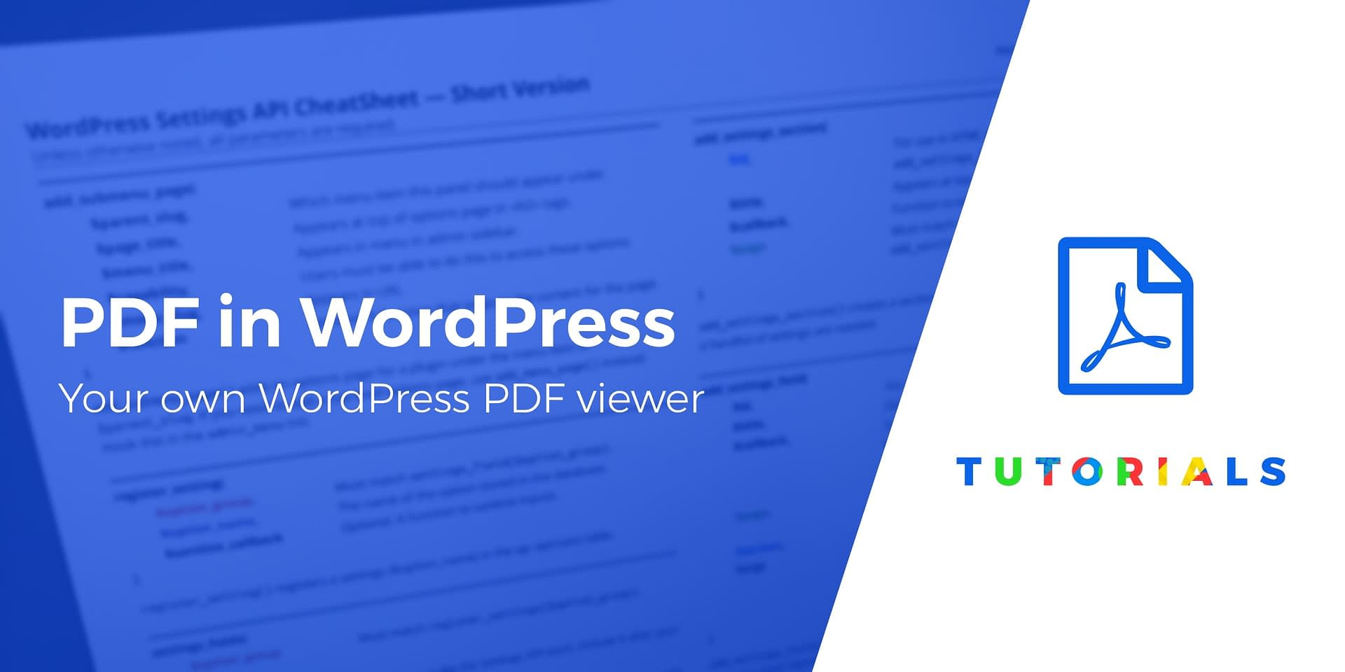 How to Display PDF in WordPress - Your Own WordPress PDF Viewer