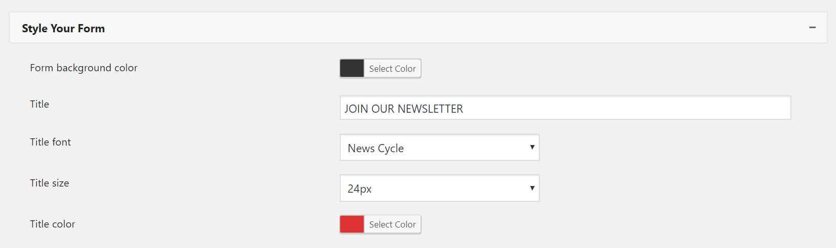 57755f89d These options will enable you to change the appearance of the form. Here  are just a few of the customization opportunities that this plugin provides…