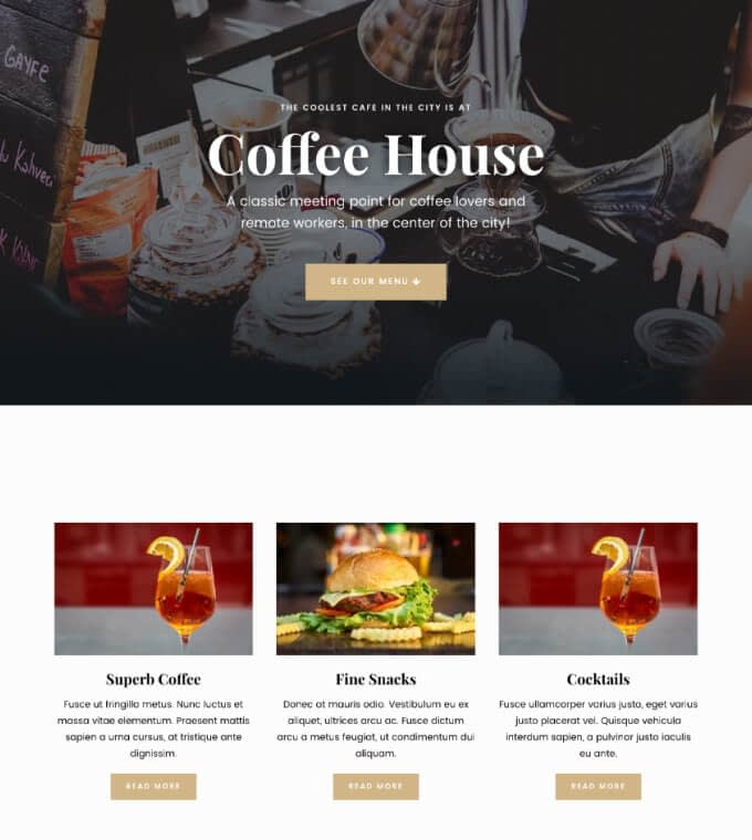 Hestia PRO Coffee Shop Featured Image