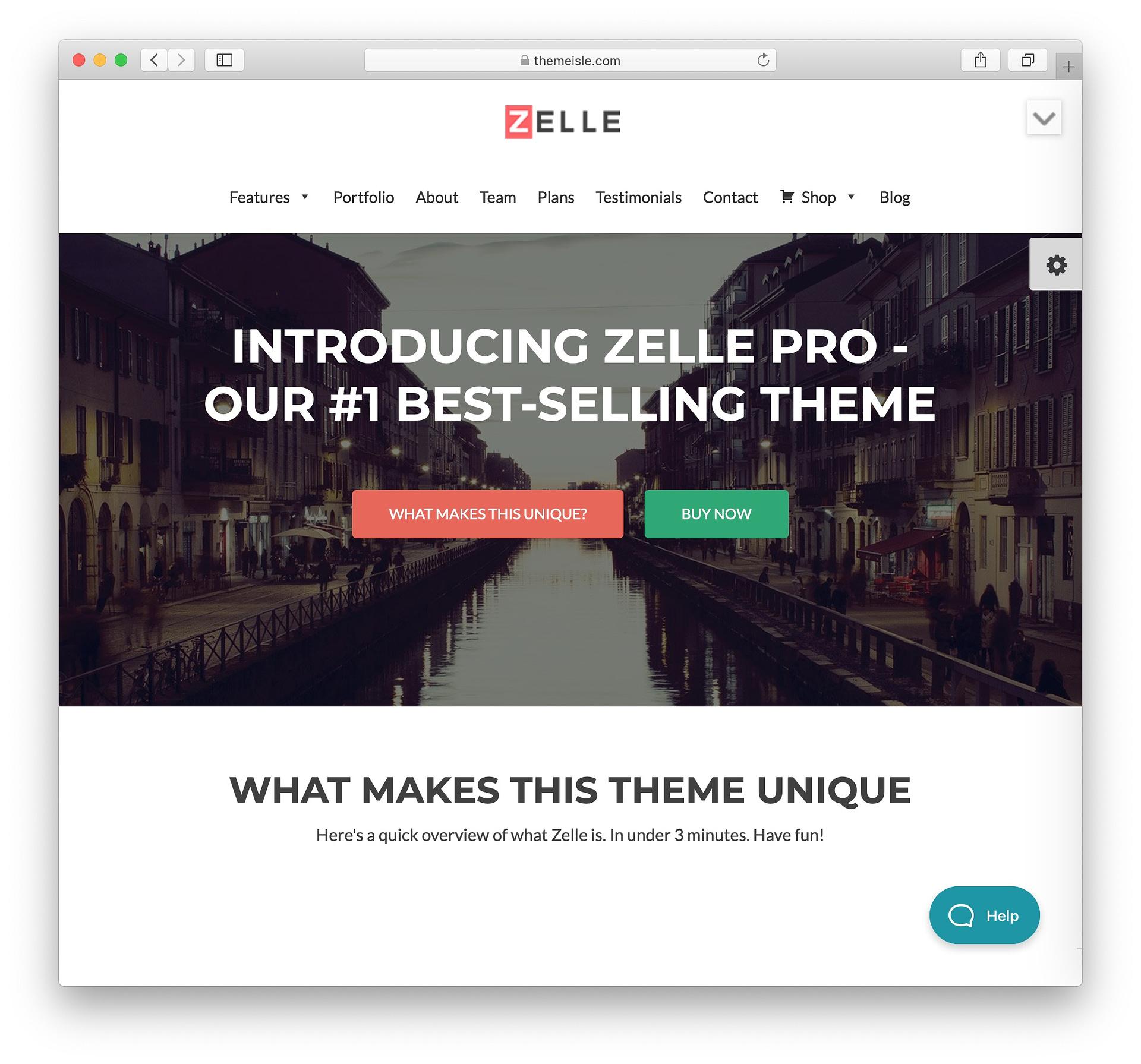 Zelle Lite: #1 Free One Page WordPress Theme @ ThemeIsle
